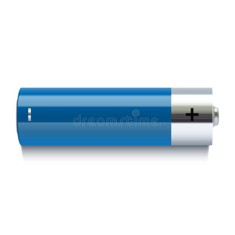Realistyczna błękitna bateryjna ikona ilustracji