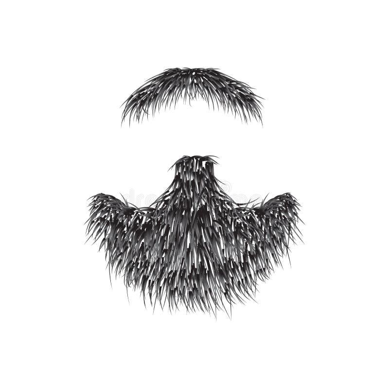 Realistyczna broda odizolowywająca na białym tle ilustracja wektor