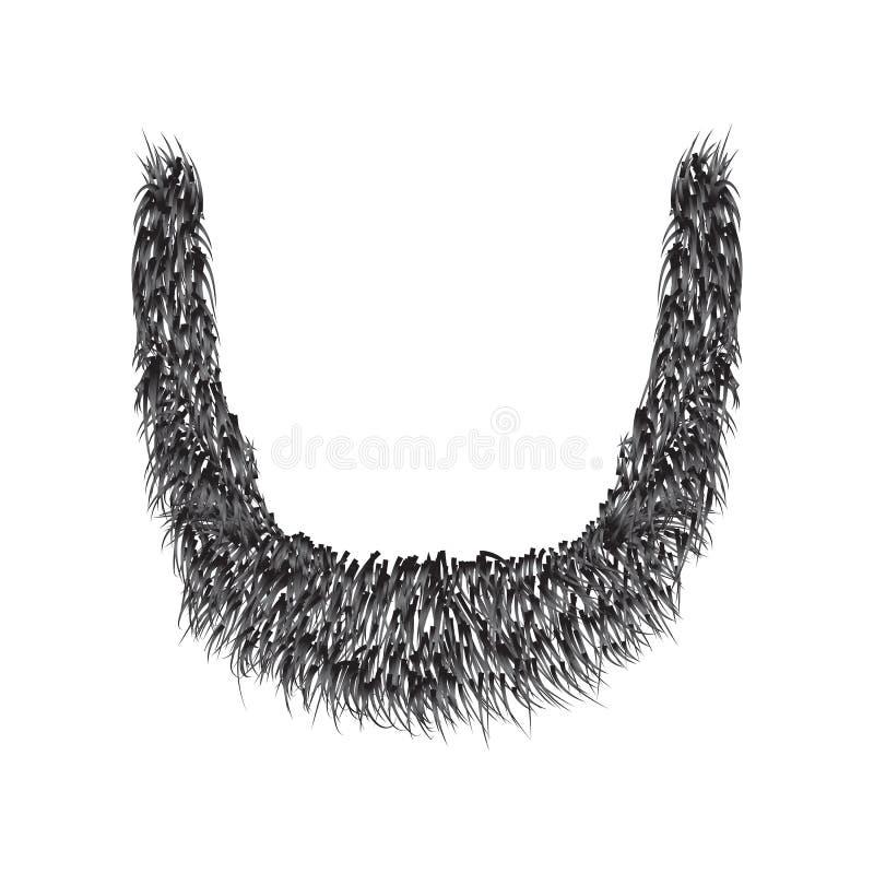 Realistyczna broda odizolowywająca na białym tle ilustracji