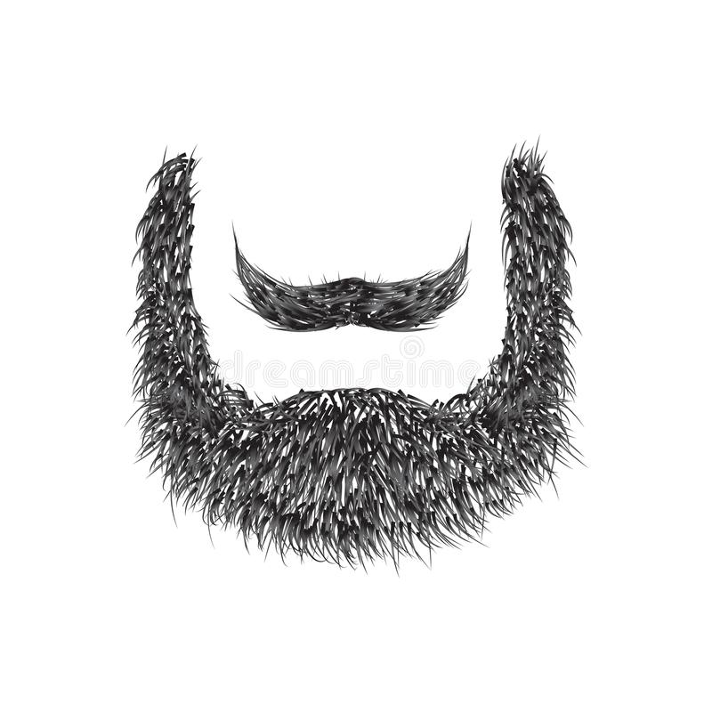 Realistyczna broda odizolowywająca na białym tle royalty ilustracja