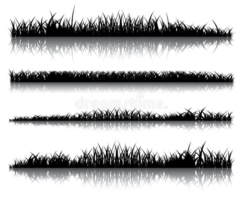 realistyczna ciemna trawa ilustracji