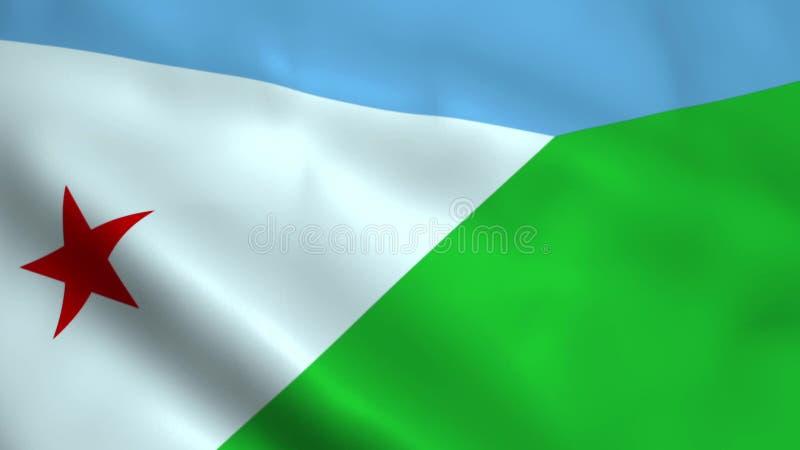 Realistyczna Djibouti flaga ilustracji