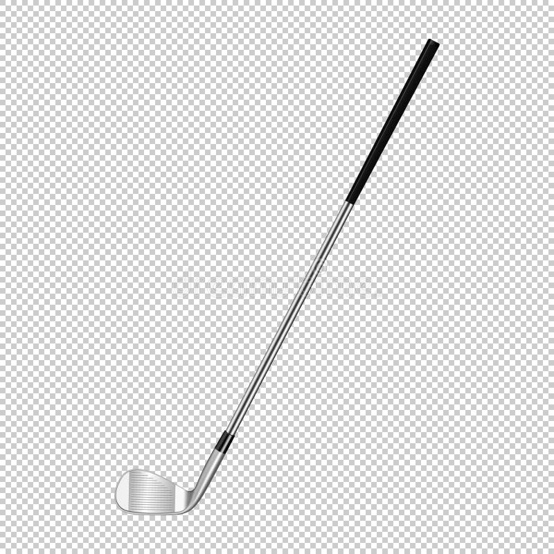 Realistyczna ikona odizolowywająca na przejrzystym tle klasyczny kij golfowy Projekta szablonu zbliżenie w wektorze ilustracja wektor
