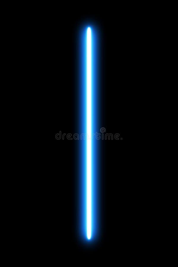 Realistyczna jaskrawa kolorowa wiązka laserowa Lekki Saber na czarnym tle Broń futurystyczna od gwiezdnej wojny projektów element royalty ilustracja