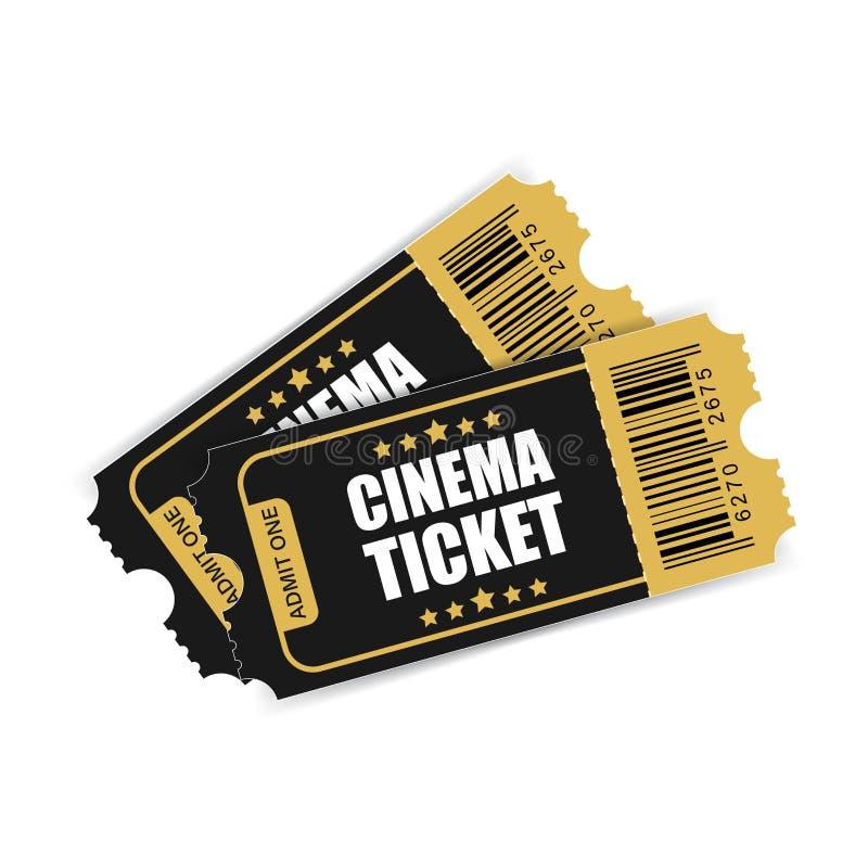 Realistyczna kinowa biletowa ikona w mieszkanie stylu Przyznaje jeden talonowy ent ilustracja wektor