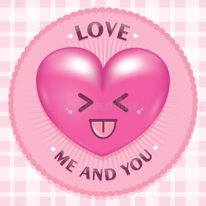 Realistyczna miłość z zaokrąglonym okręgiem obraz royalty free