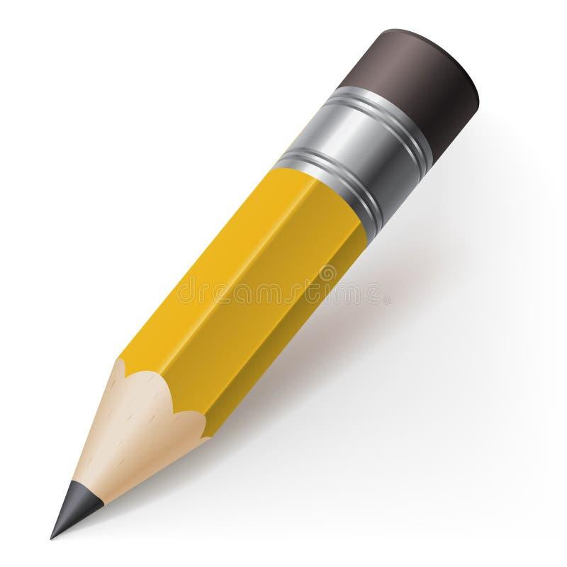 Realistyczny ołówek royalty ilustracja