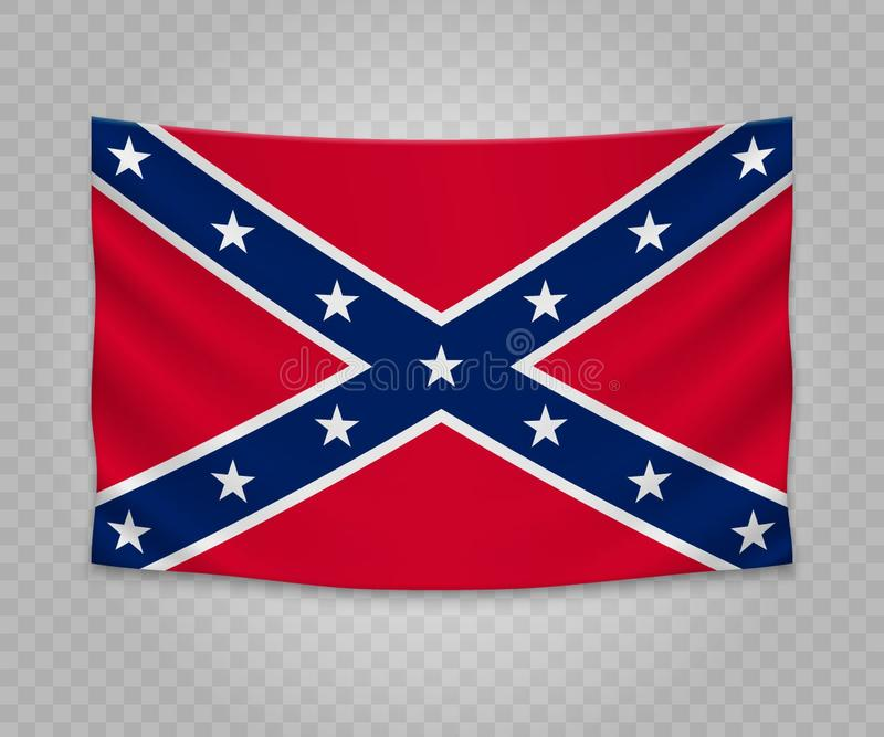 Realistyczna obwieszenie flaga ilustracji