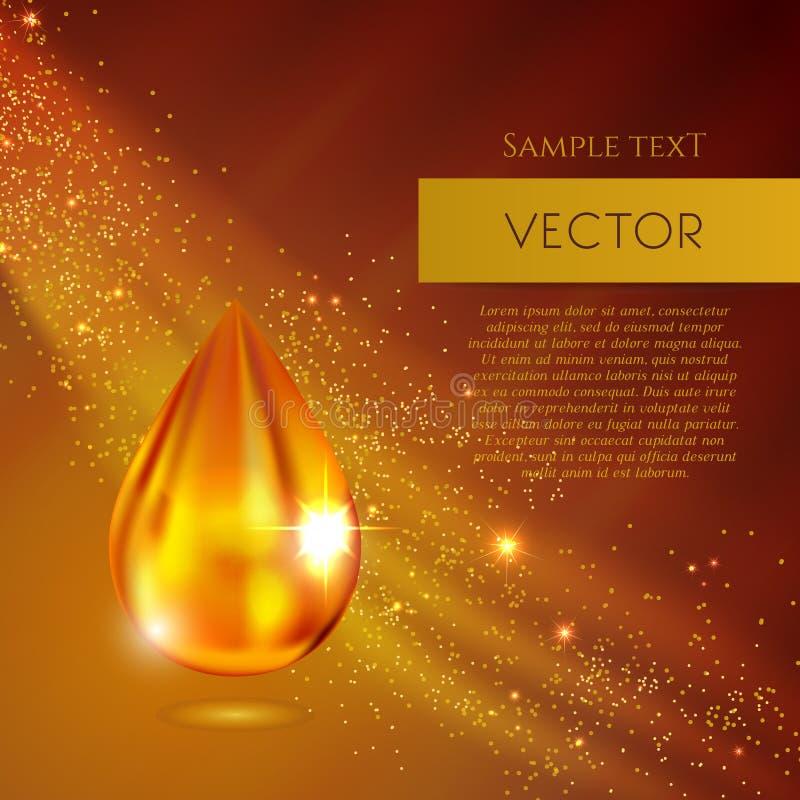 Realistyczna oleju lub miodu wektoru kropla ilustracja wektor