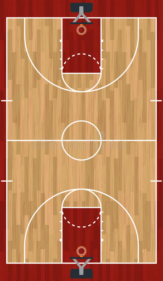 Realistyczna Pionowo boisko do koszykówki ilustracja ilustracja wektor