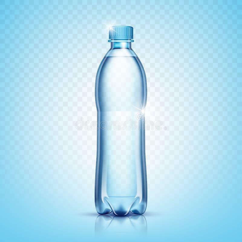 Realistyczna plastikowa butelka dla wody royalty ilustracja