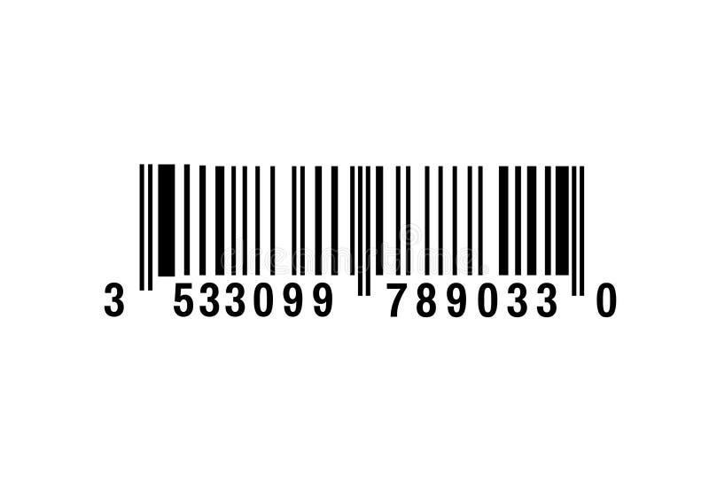 Realistyczna prętowego kodu ikona Nowożytny prosty płaski barcode Wprowadzać na rynek pojęcie internet Modny wektoru znak royalty ilustracja