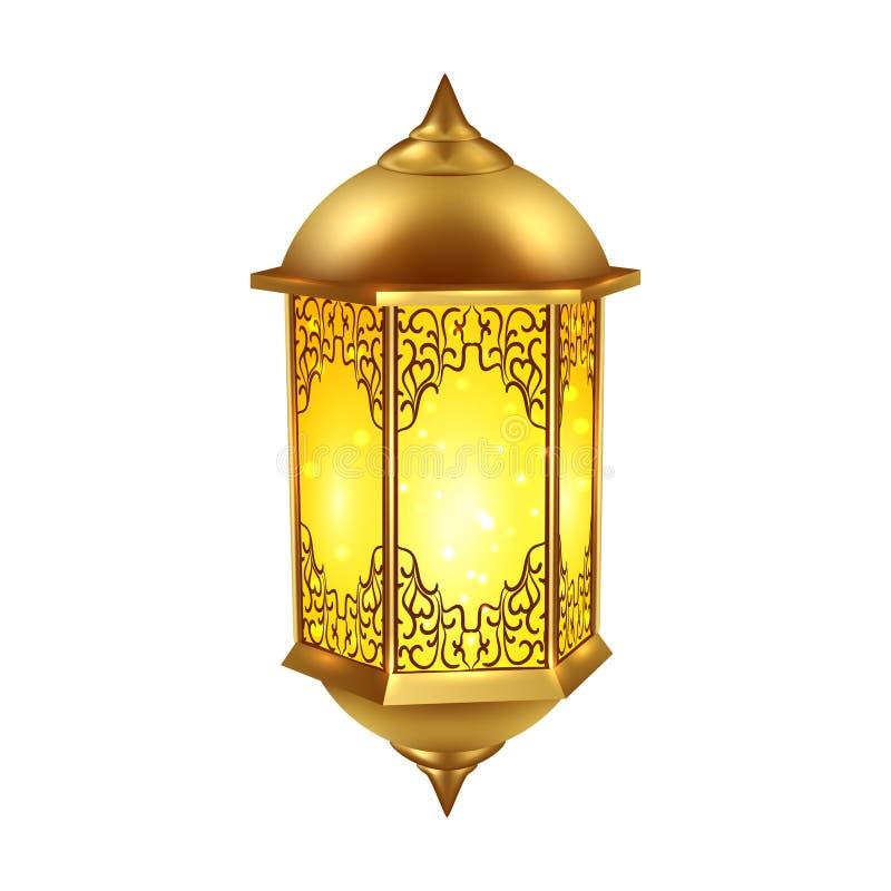Realistyczna Ramadan lampy ikona royalty ilustracja