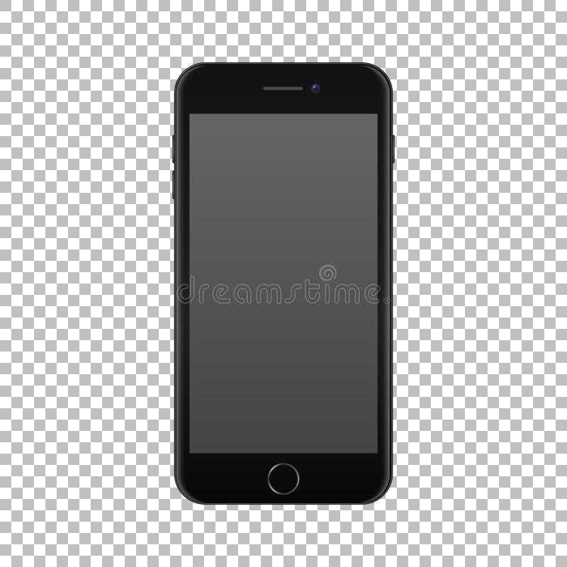 Realistyczna smartphone ikona odizolowywająca na przejrzystym tle Wektorowy projekta szablon, EPS10 mockup ilustracji