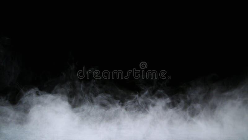 Realistyczna Suchego lodu Dymnych chmur mgły narzuta zdjęcie royalty free