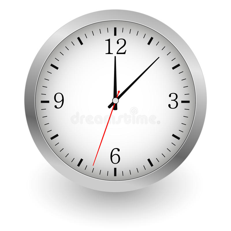 Realistyczna wektorowa ilustracja ścienny zegar ilustracji