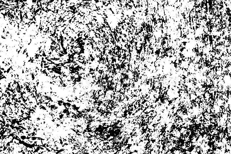 Realistyczna wietrzejąca betonowa ściana Wieśniak Kamienna tekstura Czerń hałas dla zakłopotanego skutka i plamy royalty ilustracja