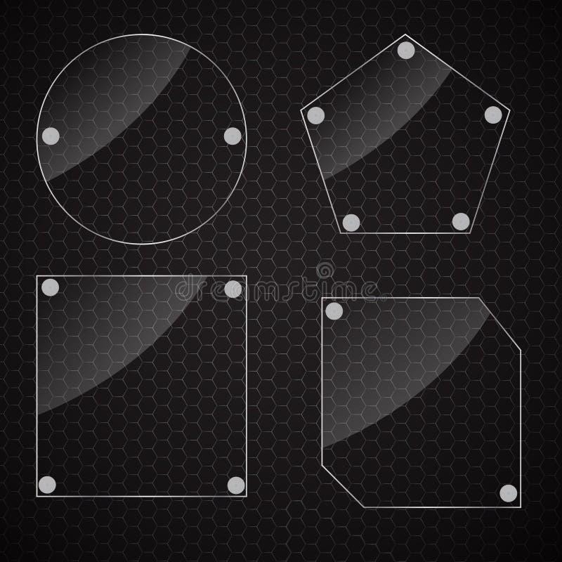 Realistyczne szklane ramy. Wektorowa ilustracja ilustracji