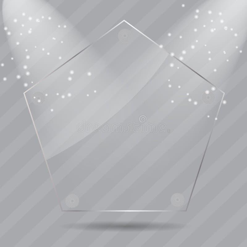 Realistyczne szklane ramy. Wektorowa ilustracja ilustracja wektor