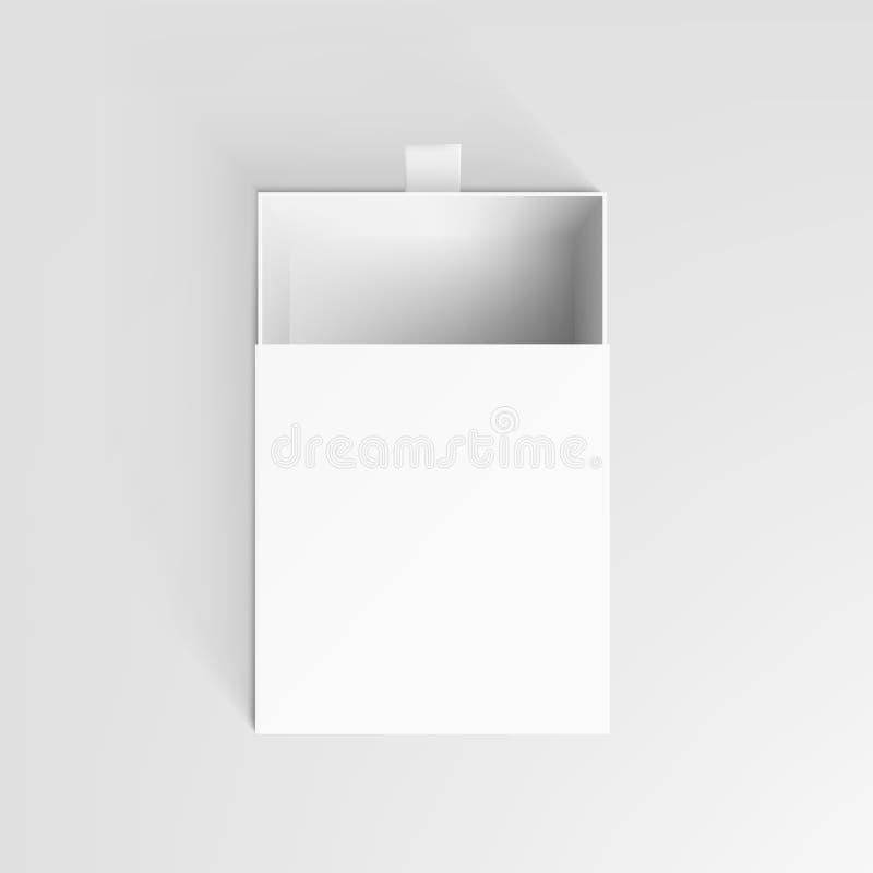 Realistycznego bielu jasnego pakunku kartonu Otwarty pudełko ilustracji