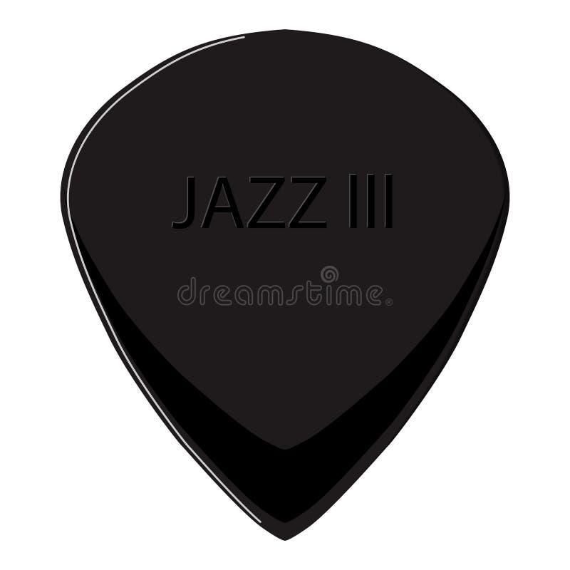 Realistycznego gitara wyboru jazzowy kształt ilustracji