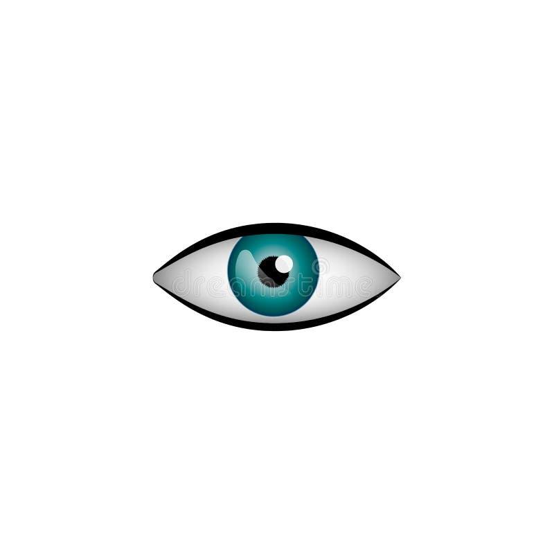 Realistycznego oka wektorowa ilustracja odizolowywająca na białym tle ilustracja wektor