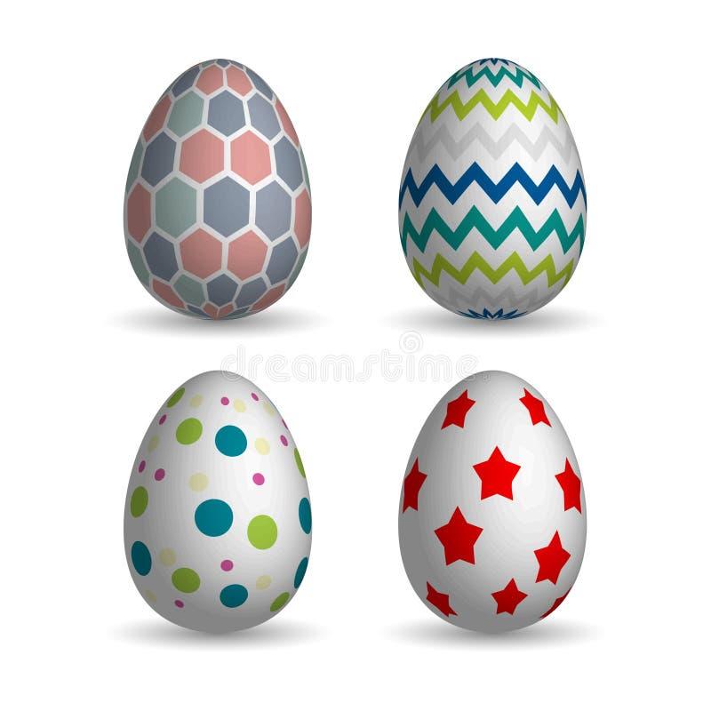 Realistyczni Easter jajka ustawiający zdjęcie stock