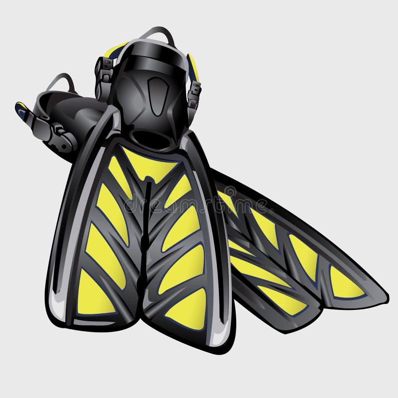 Realistyczni rysunkowi żebra Element nurkowy kostium ilustracja wektor