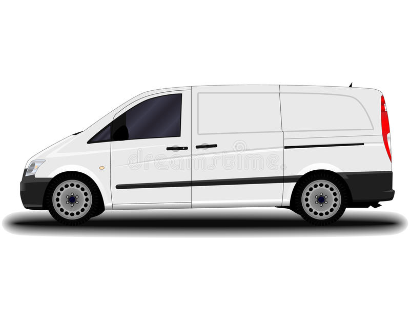 Realistyczny ładunku samochód dostawczy royalty ilustracja