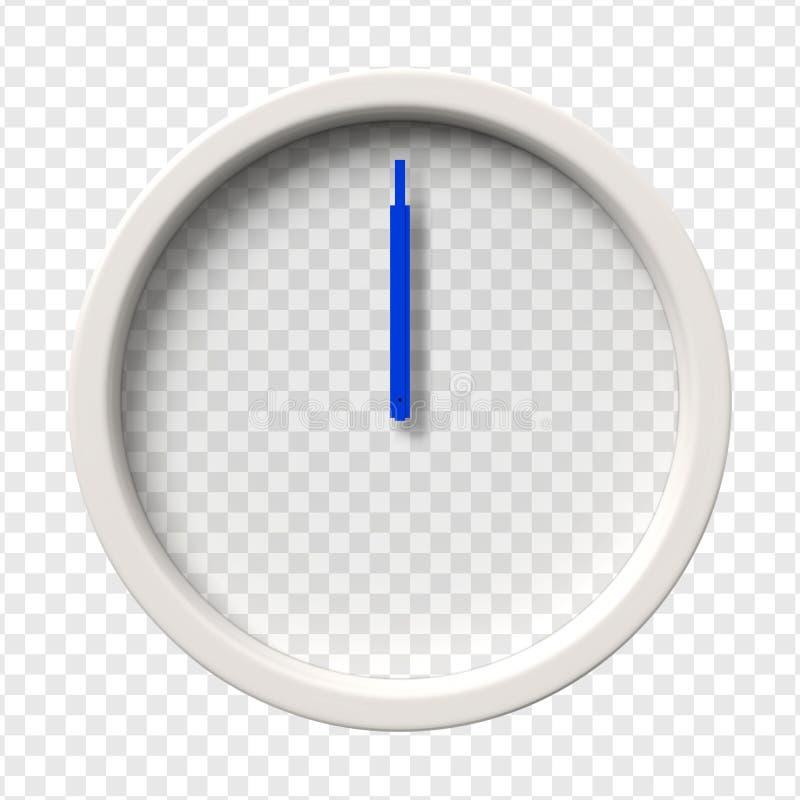 Realistyczny Ścienny zegar ilustracji
