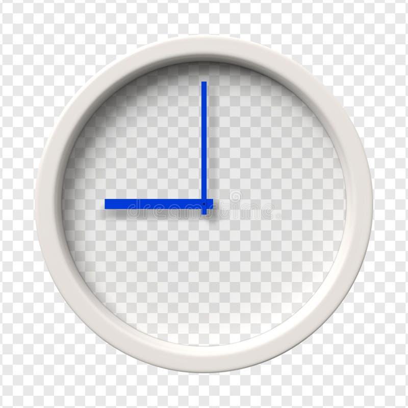 Realistyczny Ścienny zegar royalty ilustracja