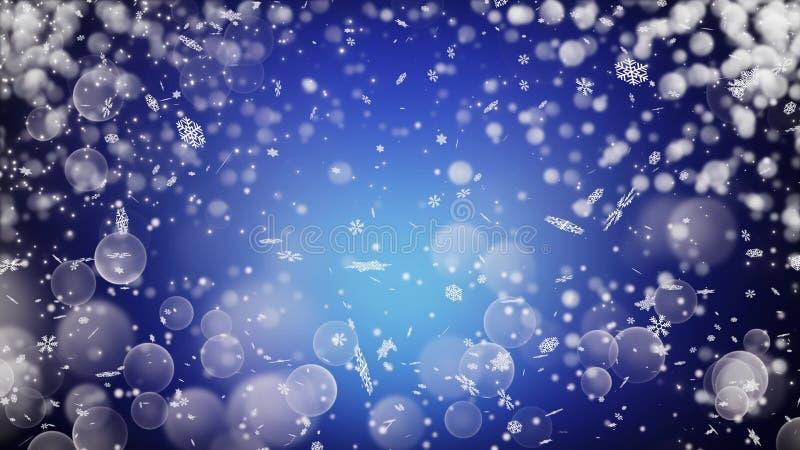 Realistyczny śnieg tło abstrakcyjna zimy zdjęcia stock