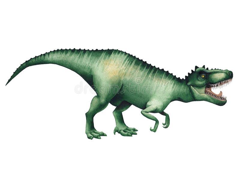 Realistyczny akwarela dinosaur ilustracji