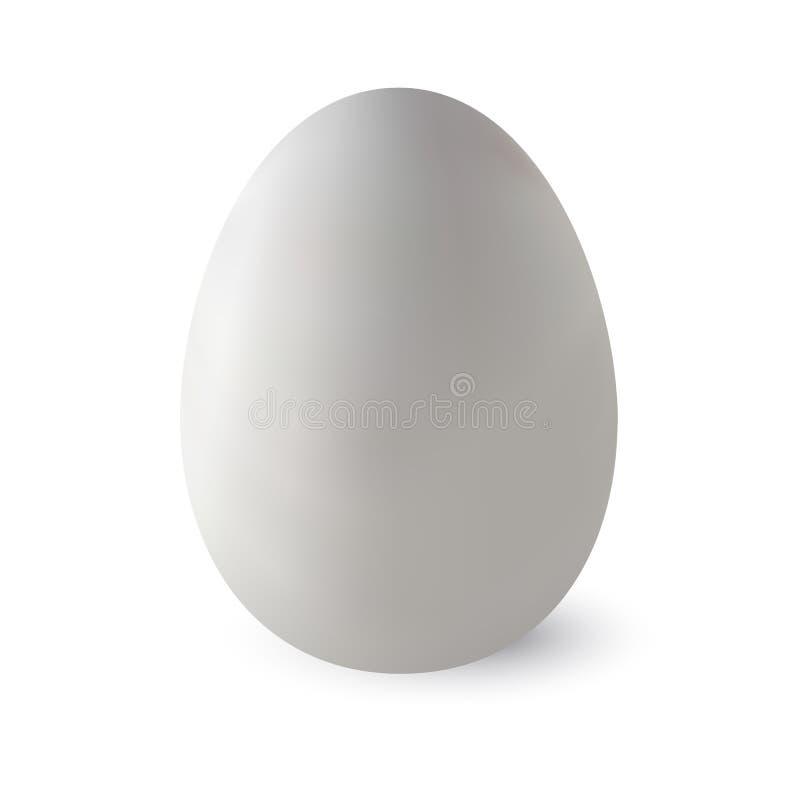 Realistyczny biały strusi jajko z cieniem również zwrócić corel ilustracji wektora obrazy royalty free