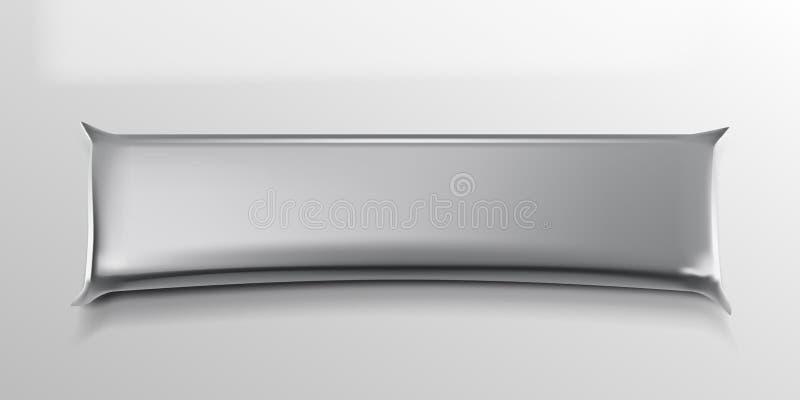 Realistyczny Czysty Aluminiowej folii pakunek Z cieniem royalty ilustracja