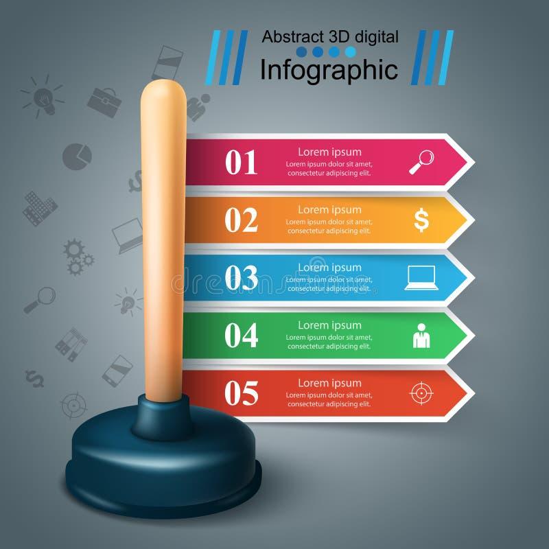 Realistyczny 3d nurek Biznesowy Infographic ilustracja wektor