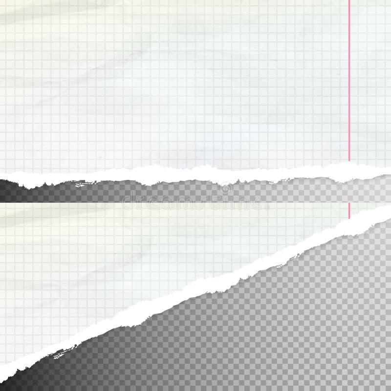 Realistyczny drzejący papier 10 eps ilustracja wektor