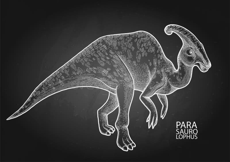 Realistyczny graficzny dinosaur royalty ilustracja