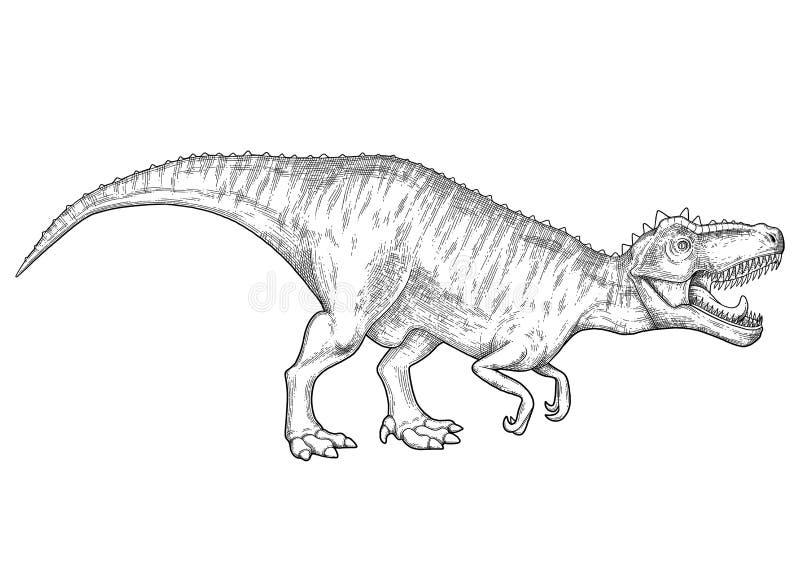 Realistyczny graficzny dinosaur ilustracji