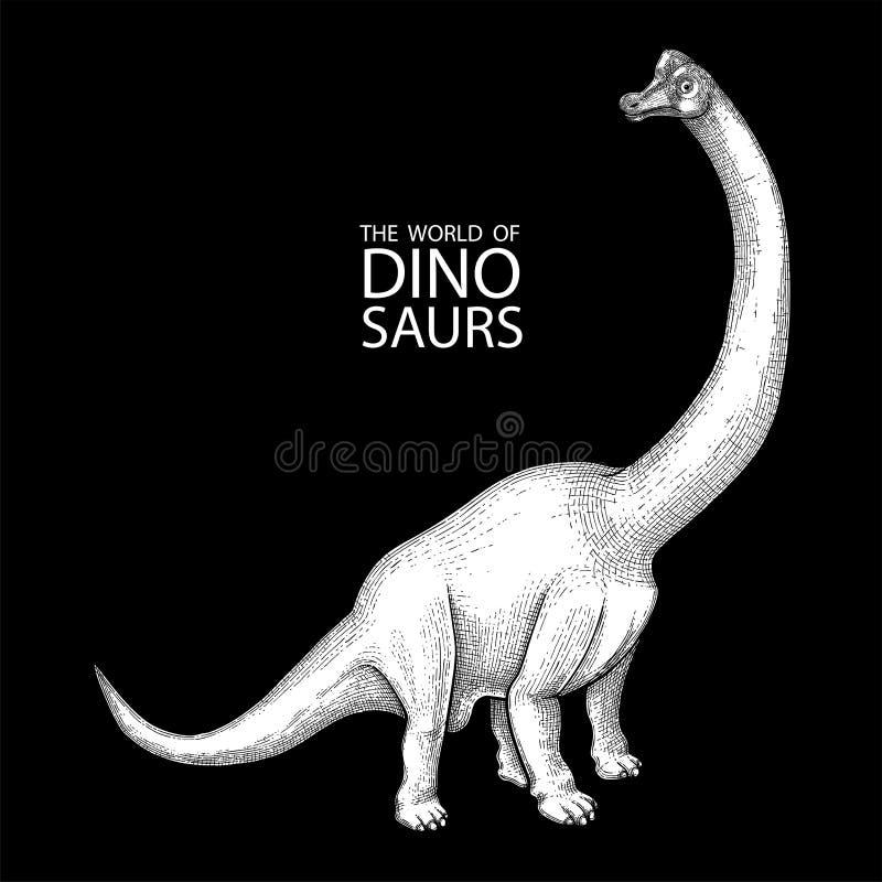 Realistyczny graficzny dinosaur ilustracja wektor