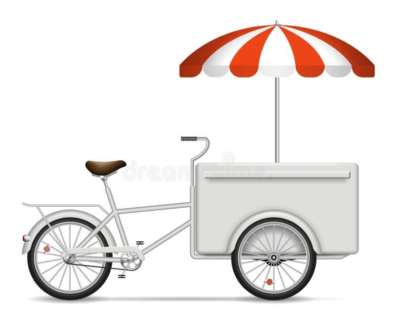 Realistyczny karmowy rower na białym tle royalty ilustracja