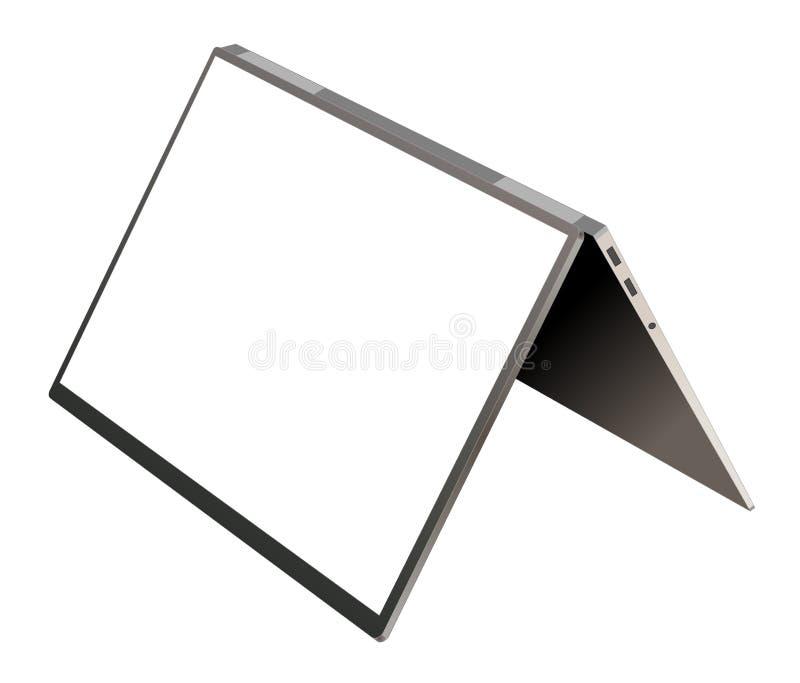 Realistyczny laptop z bielu ekranu wektorem ilustracja wektor