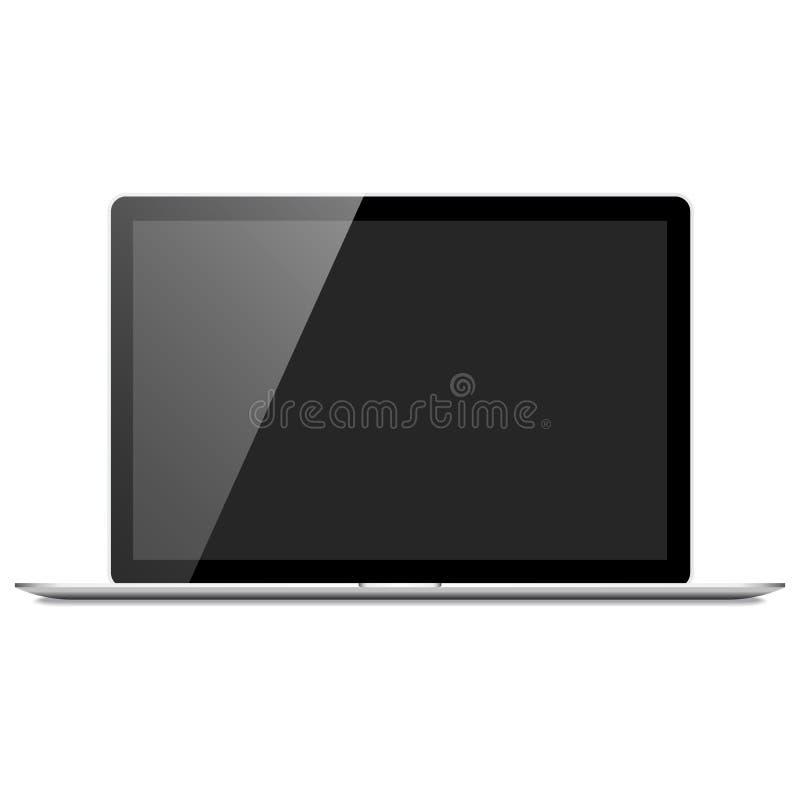 Realistyczny laptopu Mockup royalty ilustracja