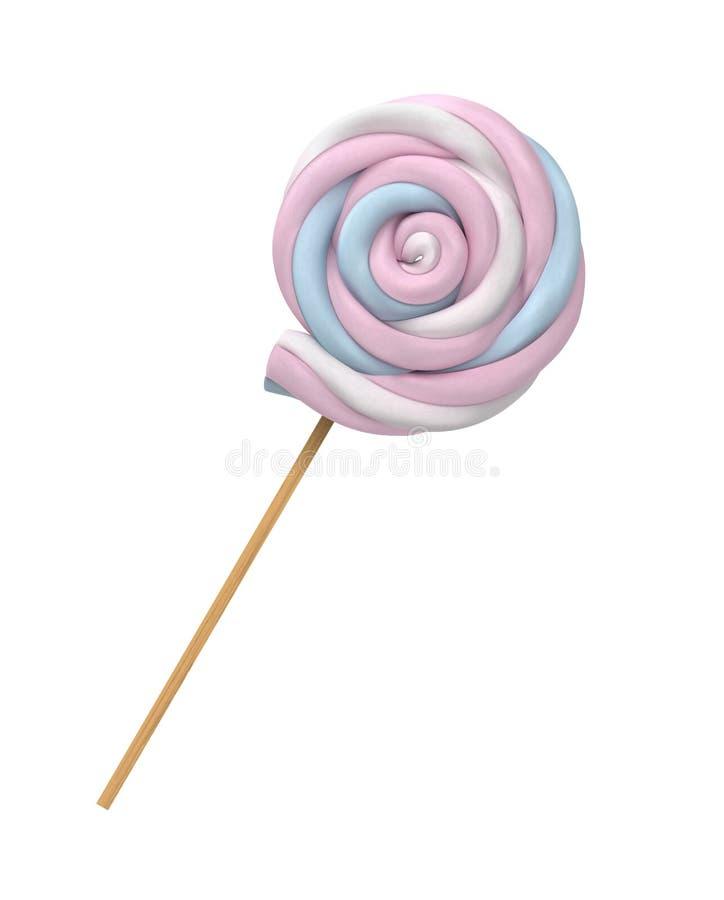 Realistyczny Marshmallows cukierek Ślimakowaty Cukierek ilustracji