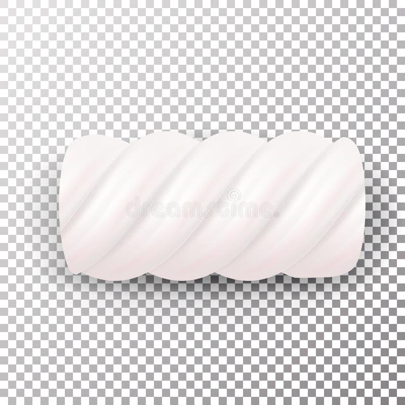 Realistyczny Marshmallows cukierku wektor Słodka skręt ilustracja Odizolowywająca Na Białym tle Chewy cukierek Dobry Dla Pakować  ilustracji
