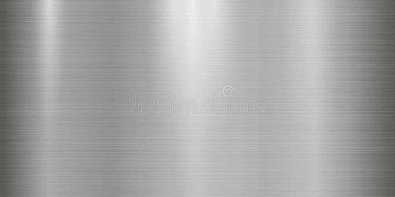 Realistyczny metal tekstury tło z światłami, cieniami i scraths w szarość odcieniu, zdjęcie royalty free