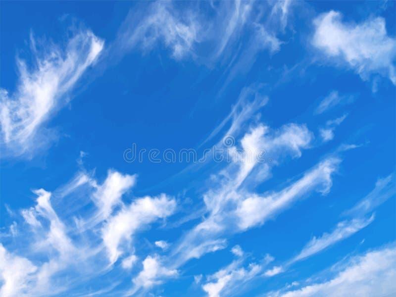 Realistyczny niebo ilustracja wektor