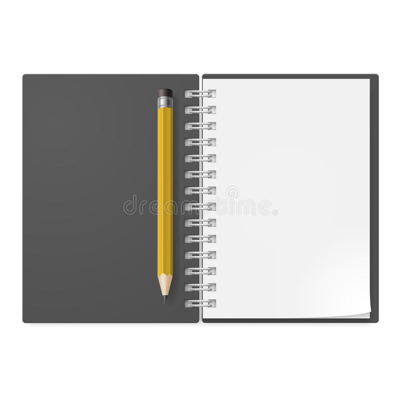 Realistyczny notatnik ilustracji