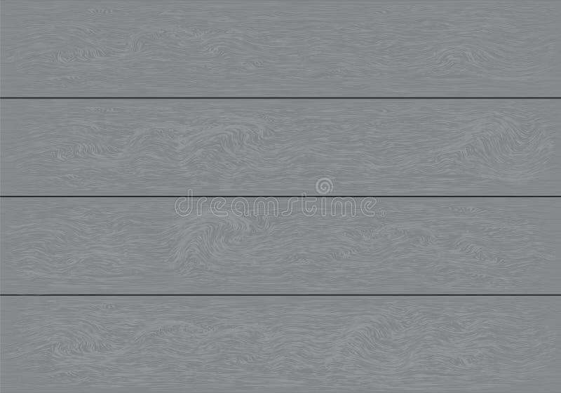 Realistyczny popielaty drewniany deska wzoru tła tekstury wektor ilustracja wektor