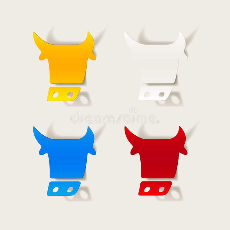 Realistyczny projekta element: krowa royalty ilustracja
